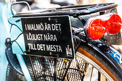 Sign (Maria Eklind) Tags: sweden bicycle sign malmö cykel skånelän sverige se