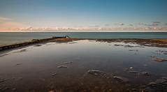 Natural Pool (free3yourmind) Tags: natural pool horizon over water sea blacksea batumi georgia long exposure clouds cloudy sunset reflection