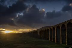 Ribblehead_12 (julesh1966@googlemail.com) Tags: ribbleheadviaduct northyorkshire yorkshiredales sunrise clouds railway landscape grassland ingleborough colour autumn ariel drone