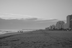 Virginia Beach (davekrovetz) Tags: beach sky sand people sea monochrome water ocean virginia pentax k70 pentaxk70 seascape landscape winter