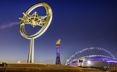 Aspire (Mohamed Rimzan) Tags: canon canon77d calture camera landscape cityscape commercial qatar qatarliving qatarism iloveqatar tower torchtower blue bluehour wideangle qatar2020
