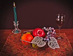 Fruit Still Life (williamsgary92) Tags: still life fruit candle wine nature flash nikon d3300