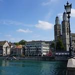 Grossmünster Church and River - Zurich, Switzerland thumbnail