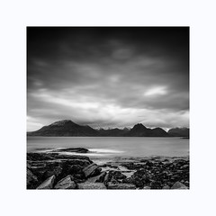 Elgol (Francis Mridha Photography) Tags: beautifulscotland blackwhite clouds destination elgol francismridhaphotography highlands isleofskye landscape longexposure mountains nikon scotland scottishlandscape skye snow travel uk visitscatland water westscotland