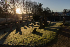 Graveyard Sunrise (jonathan.scaife81) Tags: graveyard grave cemetary clunie church loch blairgowrie dunkeld butterstone sun sunrise morning light shadow grass winter stone perthshire scotland canon 6d tamron28300 tamron 28300