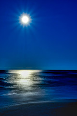 Moonshine (Charles Patrick Ewing) Tags: moon sky ocean gulf sea landscape landscapes night lowlight blue nature moonset sunrise beach sand beautiful new all everything art artistic reflection colrful dark light contrast tide waves cloud clouds supermoon colorful bright nighttime nights seascape