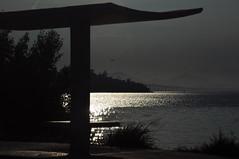 almost dark (Ruby Ferreira ®) Tags: notblackwhite bridge ponterioniterói bay baía marquise ripples airplane avião banco bench silhuetas silhouettes