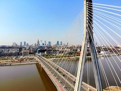 Warszawa (skyline 2) (Wojtek Gurak) Tags: warsaw warszawa poland bridge swietokrzyski panorama skyline powisle kopernik