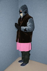 Slave Maid (Warm Clothes Fetish) Tags: slave maid torture sweat girl fur hot warm boots niqab hijqab fleece coat apron
