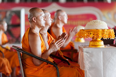 Looking toward the central stupa (SLpixeLS) Tags: thailand temple wat dhammakaya วัดพระธรรมกาย people monk meditation buddhist bouddhism prayer pray