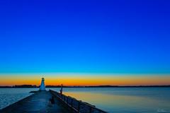 Lighthouse In Vadstena [Explored] 2018-11-20 (bobban25) Tags: canon eos 80d efs18135mm f3556 is stm östergötland sverige sweden scandinavia canoneos80d canon80d vadstena pir fyr lighthous manfrotto tripod manfrotto498rc2 canonefs18135 lighthouse sunset watwer lake vättern sjö blue