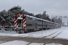 Cab car leading at Stone Avenue (aquascissors) Tags: bnsf trains train railroad railway rail railfanning railfan chicago westsuburbs bnsfchicago bnsfchicagosub metra lagrange lagrangestoneavenue stoneavenue lagrangeil