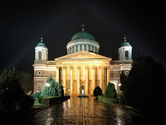 Cathedral of Our Lady of the Assumption and Saint Adalbert (hunblende) Tags: church cathedral esztergom hungary night nightshot architecture nopeople statue monument famousplace