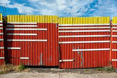Sunshine North (Westographer) Tags: sunshine melbourne australia westernsuburbs suburbia gates corrugatediron corrugatedirongates primarycolours