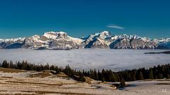 Bonne année - Happy new year (flo73400) Tags: montagne mountain alpes montblanc paysage landscape nuage cloud brume fog