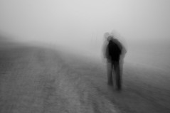 with a heavy heart (tseehaus) Tags: intentionalcameramovement icm beach fog walk lonely