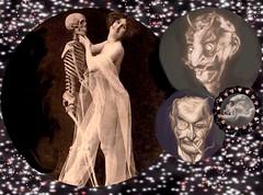 'Bawdy Old Boy's Club!' (tishabiba) Tags: oldboys bawdy illusion skull saucy artphoto artwork surreale conceptual perception surrealism surreal tish