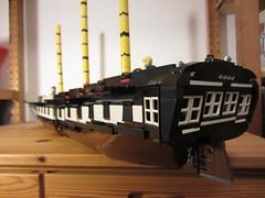 IMG_1253 (argo naut) Tags: lego 74 gun third rate ship line historical marine napoleonic era british empire model history bricks 32 frigate vessel rigging trafalgar waterloo