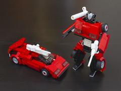 G1 Sideswipe (Jerry Builds Bricks) Tags: transformers g1 sideswipe lamborghini countach