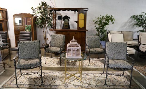 4 iron chairs with cushions ($179.20)