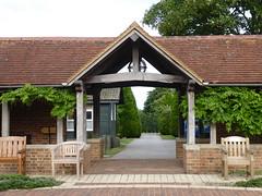 Temple cloisters (seikinsou) Tags: amaravati england meditation retreat retreatcentre temple cloister gate summer midsummer
