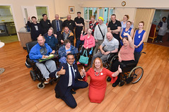 Opening the refurbished dining room and kitchen at Wagtail Close and Eden Gardens