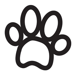 Animal Foot Print icon (www.icon0.com) Tags: paw print animal footprint tiger vector cat bear foot wolf track claw dog icon trace wild deer black mammal sign symbol art pet hunting background silhouette ground wildlife isolated white elephant graphic shape nature