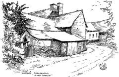 Le village du Haut-Chanclin à Acigné en 1998