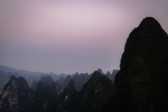 Yangshuo sunset (cyril.frelet) Tags: purple serene calm xt2 fuji shapes yangshuo mountain sunset landscape nature sky