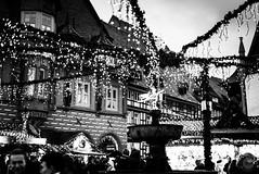 Holiday Celebration (dlerps) Tags: amount centralgermany de daniellerps eu europa europe fullframe germany harz lerps lowersaxony mitteldeutschland niedersachsen norddeutschland northerngermany sony sonyalpha sonyalpha99ii sonyalphaa99ii lerpsphotography goslar christmasmarket christmas lights market weihnachtsmarkt carlzeiss carlzeissplanar50mmf14ssm monochrome bw blackwhite marketsquare marktplatz