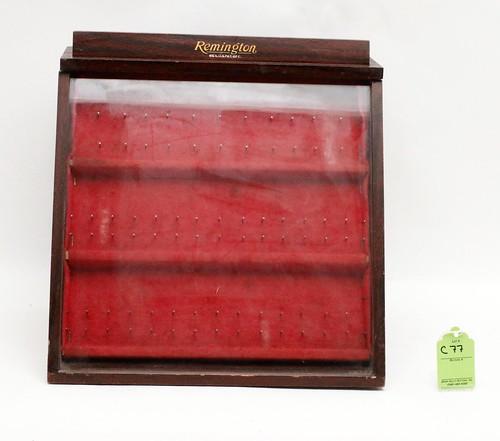 Remington knife display case