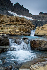 Cascading water from the glaciers (FJMaiers) Tags: gnp glacier glaciernationalpark grinnell salamander montana grinnellglacier salamanderglacier ice waterfall cascades water