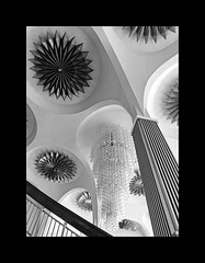 The great chandelier (Antoine - Bkk) Tags: black white bangkok thailand modern architecture theater movie heritage ceiling chandelier scala interior