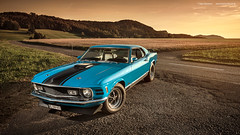 Grabber Blue 1970 Mustang Mach1 - Shot (Dejan Marinkovic Photography) Tags: 1970 ford mustang mach1 fastback american muscle car classic automotive strobist