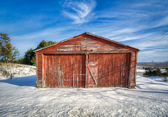 Sparkle (downstreamer) Tags: leelanau barn outbuilding winter cedar michigan unitedstatesofamerica us