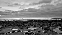 Whitley Bay Coast - North Sea B&W (P) (Gilli8888) Tags: whitleybay coast coastal coastline northsea northeast cameraphone samsung s7 sky clouds sea water marine blackandwhite stmaryslighthouse stmarysisland monochrome dawn rocks sunrise