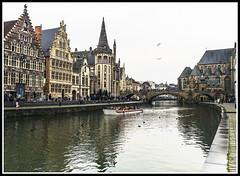 Paseando por Bélgica (edomingo) Tags: edomingoolympusomdem5 mzuiko1240 belgica gante canales ríolys