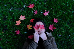 Falling in love with fall. (fra_m88) Tags: love passion fall october usa boston red colors picoftheday girls women woman beauty kiss urban green grass park nature architecture blind see view streetphotography everybodystreet fuji fujifilm fujix100f beautiful happiness smile vacation trip travel holiday free time enjoy america trees tree maple leaves leaf winter autumn