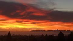 Fiery Golden Gate Sunset (Melinda * Young) Tags: city berkeley bridge goldengate bayarea bay fiery dust sun decline evening time west distance