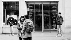 Daily Street Life (Lasorigin) Tags: architecture noirblanc strasbourg urbanpicture bâtiment villepays magasin porte sac sujet nb blackwhite bw building door bag cap shoes chaussures brands marques shop lines lignes