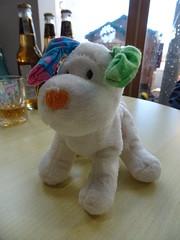 The Snowdog (stevenbrandist) Tags: snowdog toy christmas christmasfayre table stuffed socks