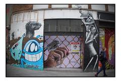 STREET ART by VARIOUS (StockCarPete) Tags: phlegm nether410 pez roa vinnienylon streetart londonstreetart urbanart graffiti shoreditchart london uk