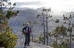 EIleen on Owls Head Mountain (Upstate Dave) Tags: highpeakswilderness newyorkstate people eileenwilliams adirondacks cascademountain mountains designatedforests places owlsheadmountain 2016