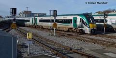 22016+22004 arrive at Heuston, 13/11/18 (hurricanemk1c) Tags: railways railway train trains irish rail irishrail iarnród éireann iarnródéireann dublin heuston 2018 22000 rotem icr rok 4pce 22016 1025portlaoiseheuston