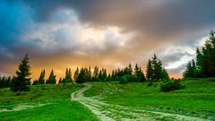 Outdoor moments (Pan.Ioan) Tags: landscape nature outdoors green field land road trees forest sky clouds color colorful