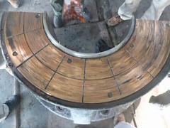 Resize of P1360912 (OpalStream) Tags: rudder marine vessel repair works overhauling workshop measurements filler gauge dirt