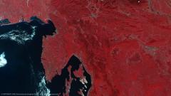 Croatia, Slovenia and Italy (karadogansabri) Tags: europe satellitedata nir nearinfrared red earth landscape nature croatia italy slovenia sea sand water rivers lakes islands clouds ukdmc dmcii dmc spacecraft remote sensing observation
