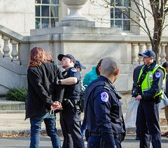 Sunrise 121018 (20) (Becker1999) Tags: protest protesting climate climatechange 2018 december washingtondc telldemocratsweneedagreennewdeal · sunrisemovement greennewdeal police arrest civildisobedience capitolpolice protestors houseoffices