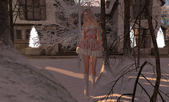 Sugar dropped from the trees (Teddi Beres) Tags: second life sl virtual heels boots winter snow christmas xmas blonde girl woman trees home house footwear fashion style