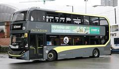 Blackpool Transport 447 SN67WZM at Manchester Victoria on Rail Replacement. (Gobbiner) Tags: e400city adl blackpooltransport 447 manchester railreplacement enviro sn67wzm palladium